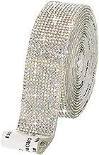 Self Adhesive Crystal Rhinestone Diamond Ribbon DIY Decoration Sticker with 2 mm Rhinestones for Arts Crafts, DIY Event Car Phone Decoration (Crystal AB, 1.06 Inch x 3 Yards)