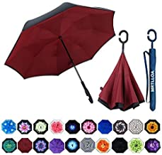MRTLLOA Double Layer Inverted Umbrella with C-Shaped Handle, Anti-UV Waterproof Windproof..