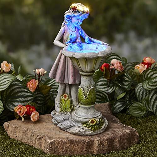 Fairy solar water fountain - Outdoor Garden Ornament