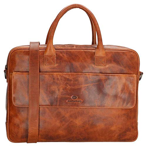 Micmacbags Colorado laptoptas 17,3 inch Cognac