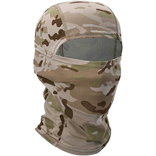 YOSUNPING Camouflage Breathable Balaclava Face Mask Hood Ninja Gear Cover Protection for Cycling Motorcycle Motorbike Hunting Hiking Army Military Tactical Airsoft Paintball Fishing SP-02