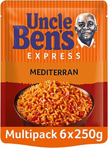 Uncle Ben 's Express de arroz Mediterran, pack de 6, 6x 250g)
