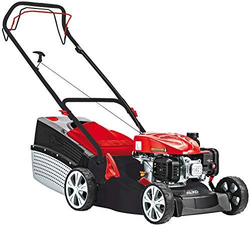 AL-KO Benzin-Rasenmäher Classic 4.66 SP-A Edition (46 cm Schnittbreite, 2.0 kW Motorleistung, Robustes Stahlblechgehäuse, 1-Gang Radantrieb, für Rasenflächen bis 1400 m², inkl. 65 L Grasfangkorb)