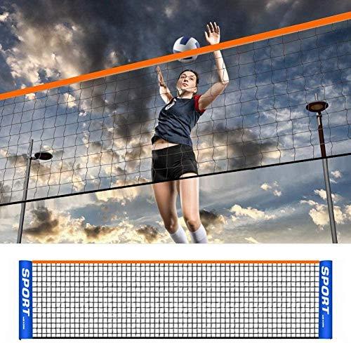 GYKLY Einfaches Badmintonnetz tragbares mobiles Netz Tennisregal Standard Mobile Feldlinie Outdoor-Spiel Badmintonnetz-2,1 Meter