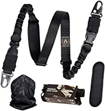 The Experts Choice - Superior 2 Point Rifle Sling Reliable and Versatile with an Excellent Functionality. Combat Applications Strap with Sturdy HK hooks + Bandana and 2 Skill Improvement eBooks