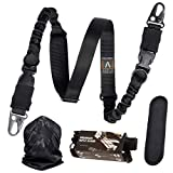 Antila - 2 Point Rifle Sling - Two Point Gun Sling for Rifle, Durable and Versatile - an Excellent Gun Strap for Rifle Full Metal w/Comfortable Padding + Bandana and 2 Skill Improvement eBooks