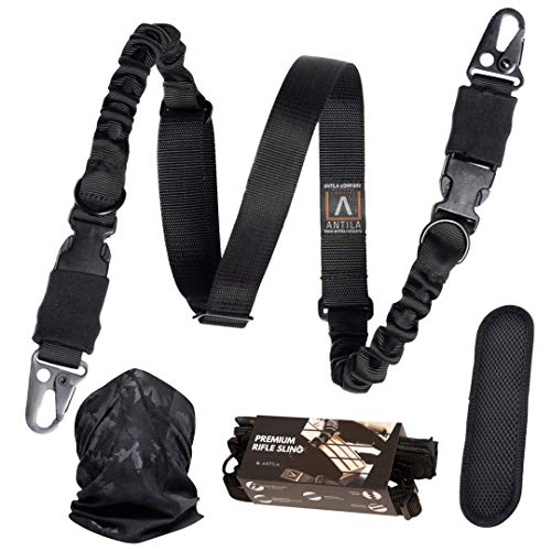 Antila – 2 Point Rifle Sling – Two Point Gun Sling for Rifle, Durable and Versatile – an Excellent Gun Strap for Rifle Full Metal w/Comfortable Padding + Bandana and 2 Skill Improvement eBooks