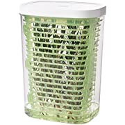 OXO Good Grips Greensaver Frischhaltebox für Kräuter 2.7 L, Kunststoff, Grün