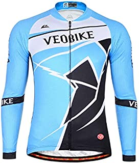 SonMo Men's Cycling Jersey Riding Suit Sportswear Cycling Suit Mountain Biking Suit Cycling Clothing Sport Jacket Long Sleeve Spring and Autumn Elastic Breathable Quick Dry, l