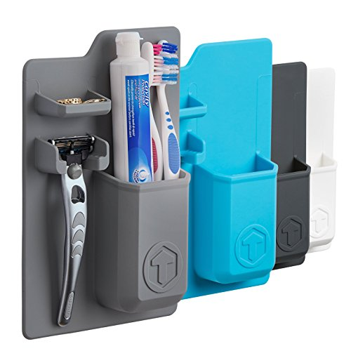 Tooletries Mighty Toothbrush Holder Grey