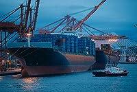 ERZAN1000ピース木製パズルシアトル港の貨物コンテナを備えた貨物船大人パズル のすべ