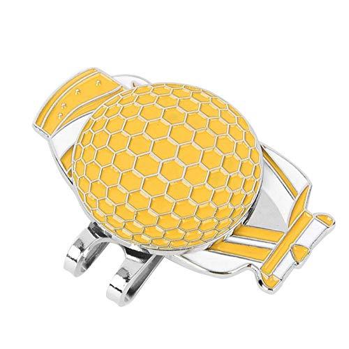 SALUTUYA Clip para Sombrero de Alta Resistencia 3 Colores Ligero, para Practicar Golf(Yellow)