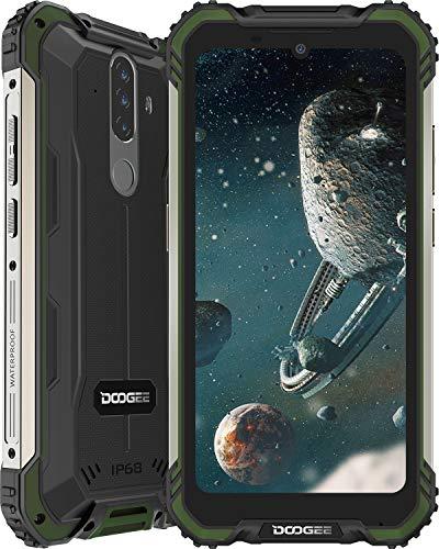 Telefono Movil Libre, DOOGEE S58 Pro Android 10 Smartphone 4G con Cámara Triples 16MP+Cámara Frontal 16MP, 6GB+64GB-SD 256GB, Batería 5180mAh, 5.7 Pulgada IP68/IP69K Móvil Resistente, NFC/GPS, Verde