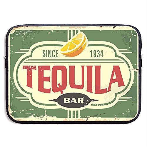 Tequila Bar Vintage metalen bord voor Mexicaanse Traditie Laptop Sleeve tas Portable Zipper Laptop Bag Tablet-tas