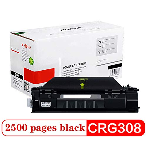 Compatibel Toner Cartridge Vervanging voor CRG-308, voor Canon LBP3300 LBP3360 Printer Toner Cartridge Zwart 2500 Pagina's Zonder Lekkage Poeder High-Yield Office Supplies