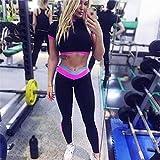 SUNNYFOR Ropa De Yoga Mujer Traje De Gimnasia Mujer Ropa Deportiva Ropa De Gimnasia En Seco Ropa De Entrenamiento De Retazos Nuevo Traje para Yoga Top Leggings Kit