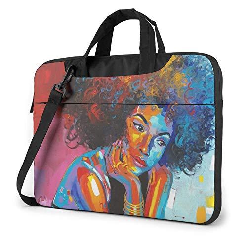 Woman Lightweight Waterproof Laptop Notebook Shoulder Backpack Bag Briefcase Messenger with Strap 15.6″