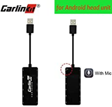 Carlinkit USB Wired Carplay Dongle Mini Smartphone Link Receiver Adapter Compatible for Android headunit Car Android Auto Navigation Multimedia Player Support Touchscreen and Voice Control