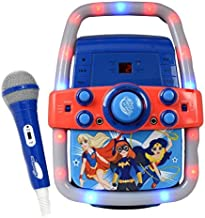 Enjoy Childhood Zchui Kids Karaoke Microphone Adjustable Height Colorful Lights Sound Wired Karaoke Machines with Stand Promote Parent-Child Interaction Between Children and Adults