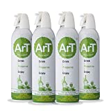 ArT Wine Saver and Bottle Stopper, Pure Argon Spray Can, Use up to 130 Times (4 Pack)