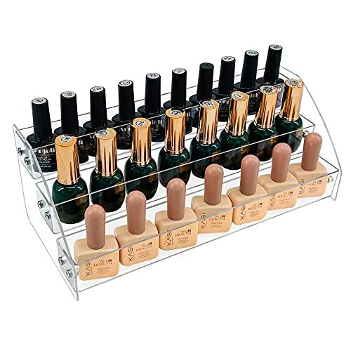 MineSign Nail Polish Holder Organizer Clear Acrylic Nail Polish Tray Fingernail Polish Display case 3 layers Essential Oils Holder Makeup Organizer