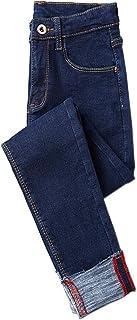 KINDOYO 女性スキニージーンズ - スリムフィットカジュアルサーマル保温弾性ズボンハイライズジーンズ