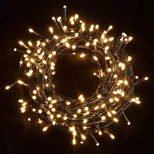 MOMEX 300 LED 21 M Weihnachtsbaum Lichterkette Außen und Innen Lichterkette 8 Modi Lichterkette für Außen Garten Haus Hochzeit Weihnachten (warmweiß, 500 LEDs)