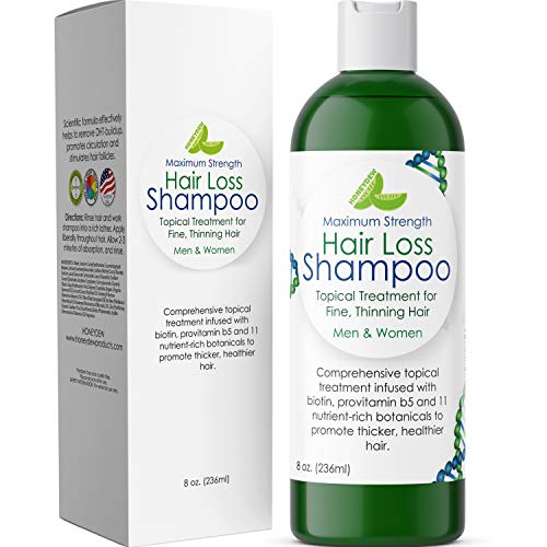 Anti-Hair Loss Natural Biotin Shampoo Hair Loss Fighting Formula Natural Treatment Regrow Hair Anti-Dandruff Anti-Breakage Active Ingredients Rosemary Biotin Zinc Evening Primrose For Women and Men