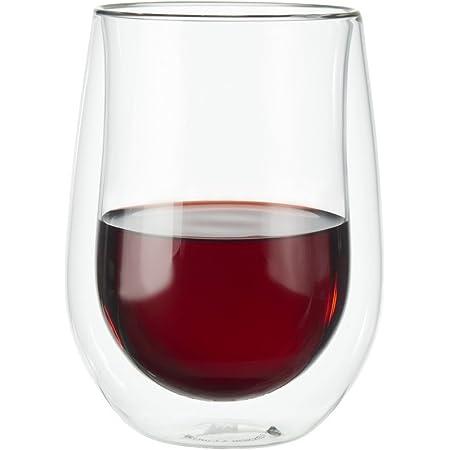 ZWILLING J.A. Henckels Double-Wall Red Wine Glass Set, 12 fl. oz