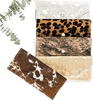 Cowhide Wallet - Woman Leather Wallet - Trifold Wallet - Checkbook Wallet