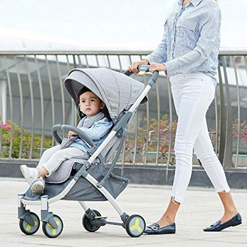 AEQ Cochecito de bebé, Cochecito Portable de la muñeca, Plegable Amortiguador Baby Trend Cochecito Que Activa for Infantil del bebé recién Nacido del bebé (Color : Blue Gray)