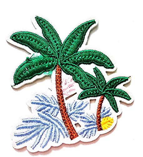 Review Nipitshop Patches Cute Design Tropical Palm Tree Beach Scene Coconut Summer Beach Cartoon Kid...