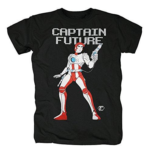 TSP Captain Future Motiv T-Shirt Herren M Schwarz