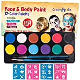 Colorful Face Paint & Body Paint Face Painting Kits for Kids & Adults (Video Tutorials & eBook) Fun, Easy to Use,...