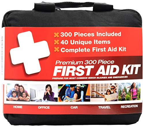 M2 BASICS 300 Piece (40 Unique Items) First Aid Kit | Emergency Medical Supply |...