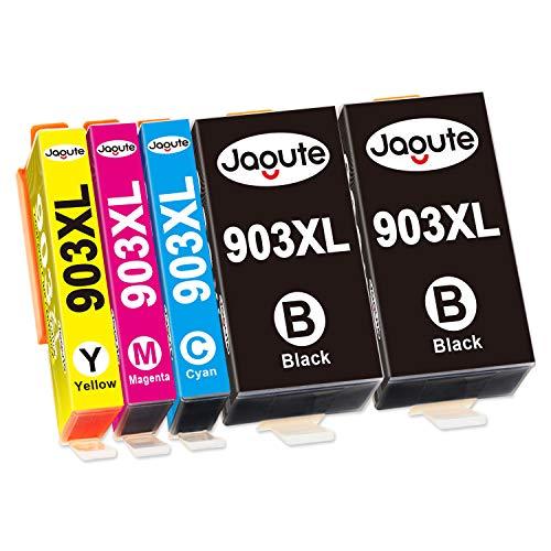 Jagute 903XL Patronen Ersatz für HP 903 903XL Mutipack Druckerpatronen, Kompatibel mit HP Officejet Pro 6950 6960 6970, HP6950 HP6960 HP6970 (2 Schwarz, 1 Cyan, 1 Magenta, 1 Gelb)