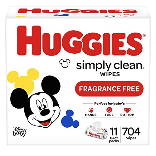 704-Count Huggies Simply Clean Baby Wipes (Unscented) - $11.33 with S&S