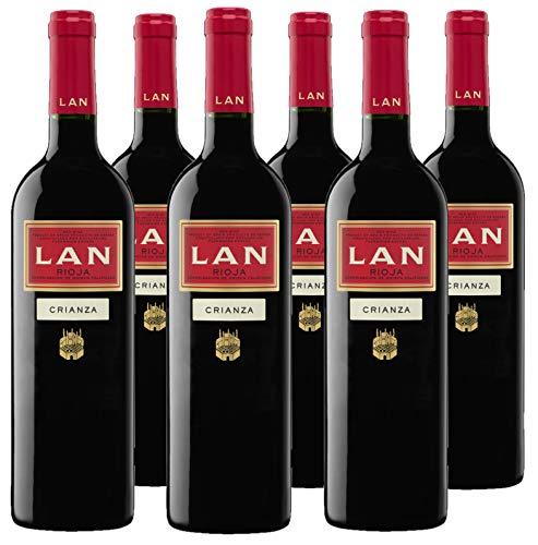 Vino Tinto LAN Crianza D.O.Ca. Rioja - 6 botellas de 750 ml - Total: 4500 ml