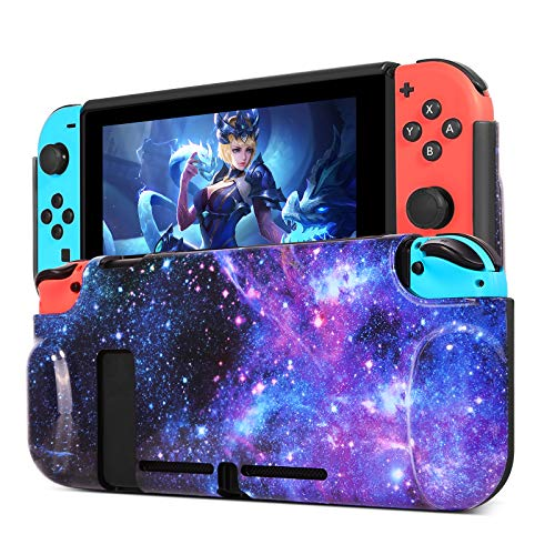 BENTOBEN Compatible with Nintendo Switch Case, Flexible TPU Protective Case Shock-Absorption Anti-Scratch Space Design Durable Grip Cases Cover Compatible with Nintendo Switch Console & Joy-Con, Blue