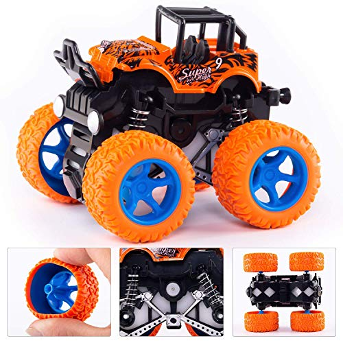 Shopme store Boy's and Girl's Toys Monster Trucks Friction Powered Cars for 4 Year Old Kids, Purple