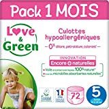 Love & Green Couches Culottes Taille 5 (12 à 18 kg) - Pack 1 mois (72 couches culottes)