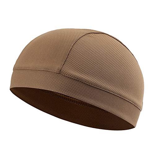 Générique Sharplace Bonnet de Vélo Coupe-vent pour Activités de Plein Air Sous Doublure Casque - Couleur sable, 29 x 18 cm