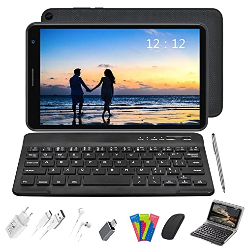 Tablet 8 Pollici con Wifi Offerte, Android 10.0 Tablets RAM 3GB | 32GB Espandibile 128GB (Certificazione GOOGLE GMS), 5000mAh Tablet PC Quad-Core 1.6 GHz Table PC Offerta Del Giorno (E8+, grigio)