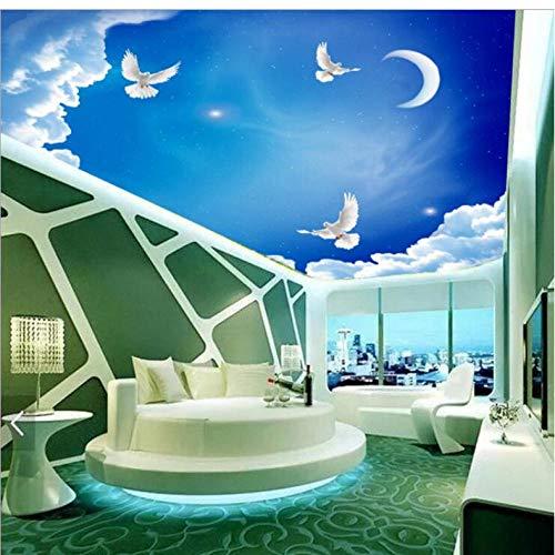 Dalxsh Home Decor 3D Wallpapers Plafond/Aangepaste foto muur papier/Blue Sky Dove vliegen/slaapkamer/Ktv/Hotel/Bar/Woonkamer/Kinderen Kamer 400 x 280 cm.