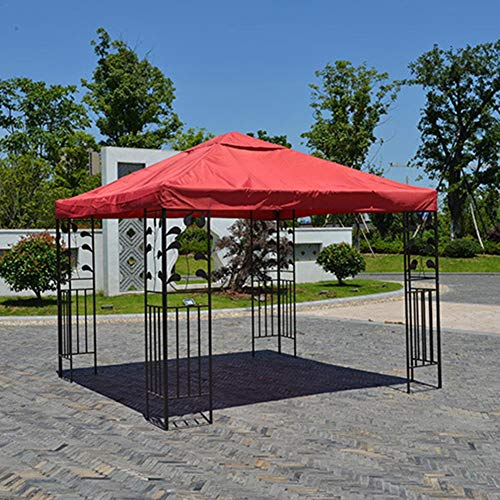 Gazebo Cover Replacement Roof Patio Canopy Tent Top Waterproof Oxford Fabric, Outdoor Waterproof Canopy Tent Roof Top Spare Part For Courtyard Garden Backyard, 3 X 3m(only Cover)