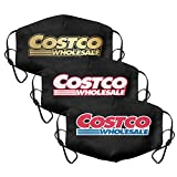 Costco-Wholesale-Original-Logo-Warehouse-Online-Shopping- 3 PCS Women Men Reusable Face Mask Nose Mouth Cover for Outdoor