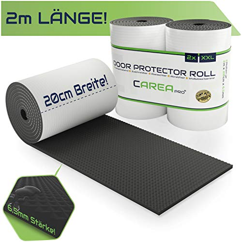 """CAREApro ® Garagen Wandschutz (2er Pack je 2m Lag) - Extra Stoßfest & Selbstklebend - Türkantenschutz Auto\""""Schwarz\"""" + Wasserabweisende Oberfläche"""