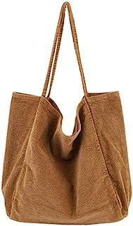 Ulisty Mujer Grande Pana Bolso de Mano Retro Bolsa de Hombro Casual Bolsa de la Compra Moda Bolso marrón