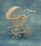 Miniatur Puppenhaus 1:12, nostalgische Accessoires, Kinderwagen