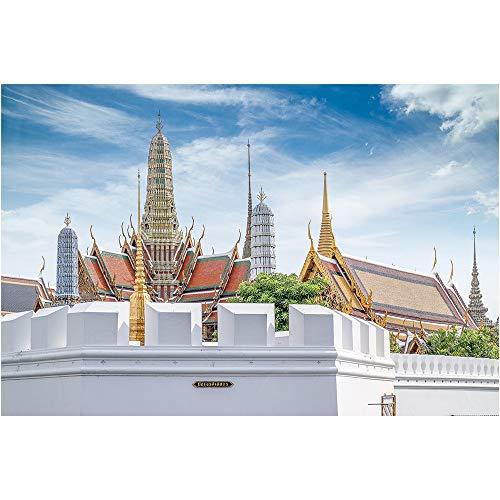 Jigsaw Puzzle Gran Palacio De Bangkok Creativo Serie Belleza Arquitectónica De Madera Entretenimiento Descompresión Juego 500 6000 Piezas 0721 (Size : 6000 Pieces)
